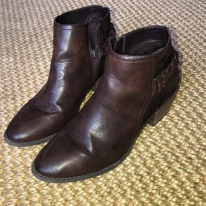 Ankle High Brown Booties